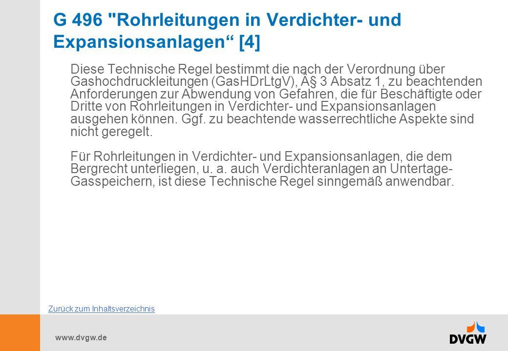 G 496 Rohrleitungen in Verdichter- und Expansionsanlagen [4]